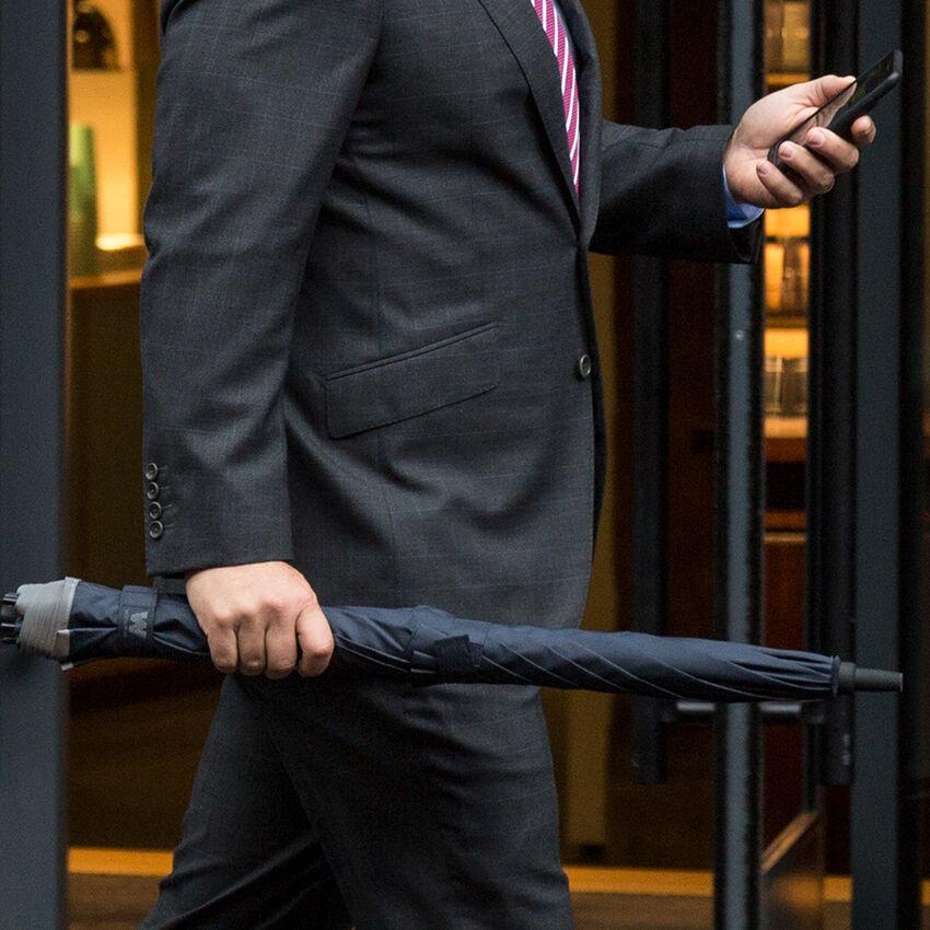 The Stick Umbrella, Navy, medium