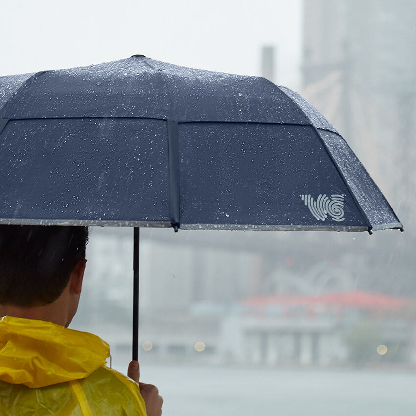 The Collapsible Umbrella, Navy, medium