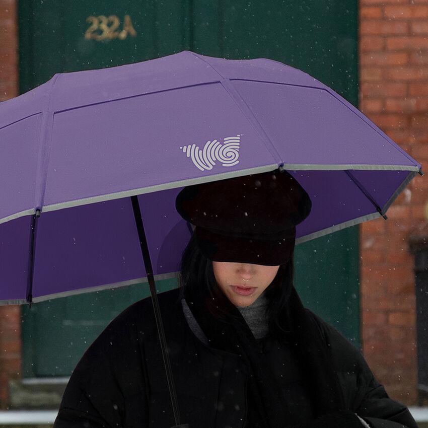 The Collapsible Umbrella, Purple, medium