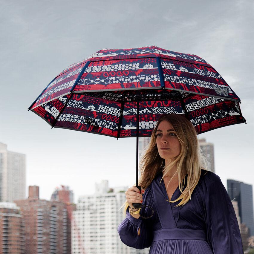 The United Folds of Honor Collapsible Umbrella, , medium