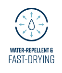 Water Repellent & Fast Drying
